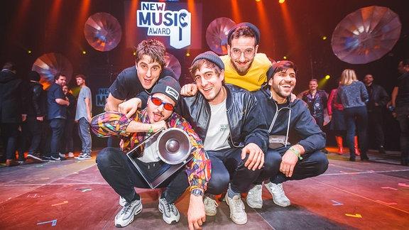 Bild der Band Leoniden als Sieger beim New Music Award