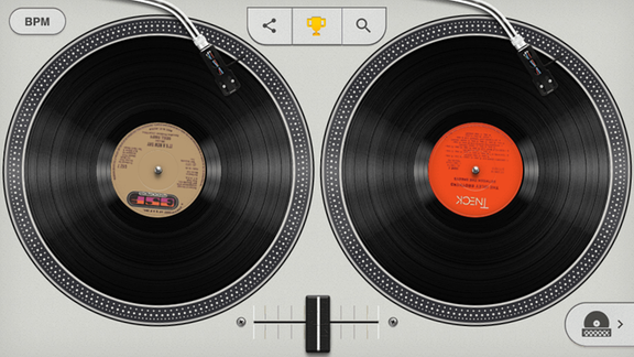 "Google Turntable zum Thema ""HipHop"""