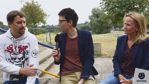 Hörer Alexander, Raimund und Steffi Lemke