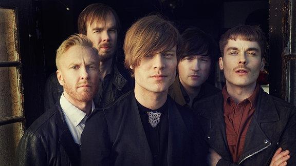 Die schwedische Pop Band Mando Diao aus Borlänge. (Björn Dixgård, Carl-Johan Fogelklou, Daniel Haglund, Patrik Heikinpieti, Jens Siverstedt)