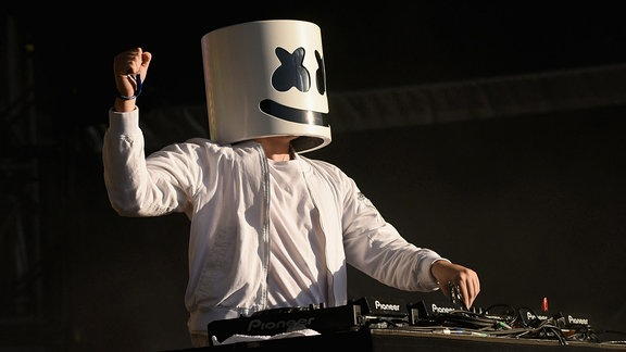 Marshmello on stage @Randalls Island, N.Y.C.