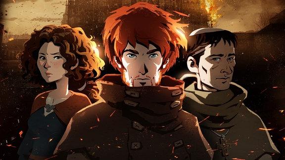 """Ausschnitt aus dem Adventure-Spiel """"Die Säulen der Erde"""" von Daedalic"""