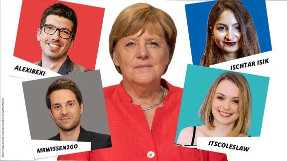 2017 interviewen YouTuber Angela Merkel.