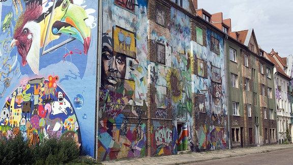 Graffitis in Halle/S. (Freiraumgalerie)