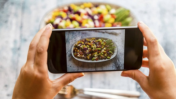 Essen mit Smartphone knipsen
