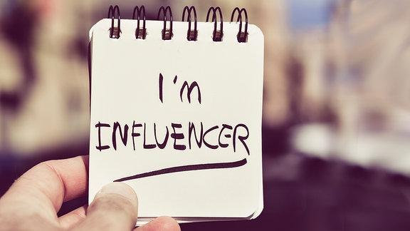 Blog mit Schriftzug I'm Influencer