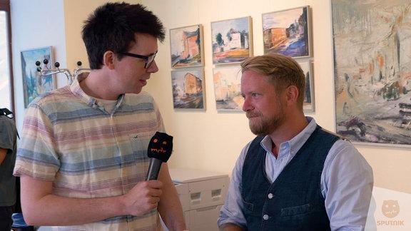 MdB Jan Korte (Die Linke) stellt sich den Fragen von SPUTNIKer Raimund Fichtenberger