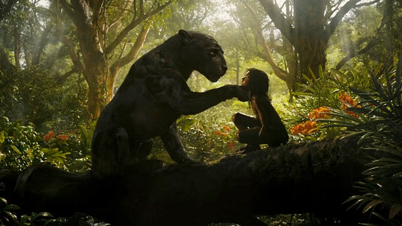 Mogli und Baghira im Dschungel