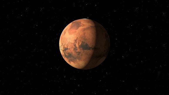 Der Planet Mars, 3D Berechnung der NASA
