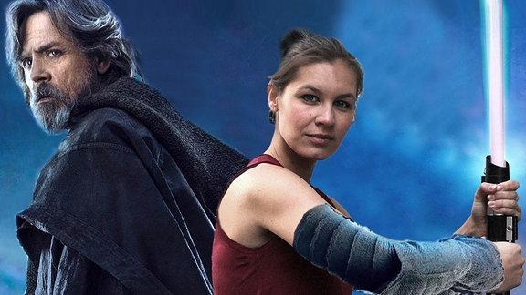 Theresa trifft Luke Skywalker