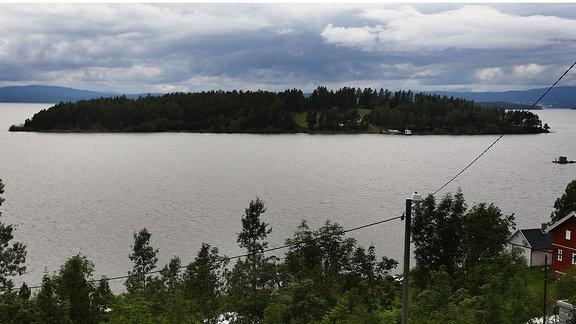 Die Insel Utøya im Tyrifjord war 2011 Ort eines Anschlags, dem 69 Menschen zum Opfer fielen.