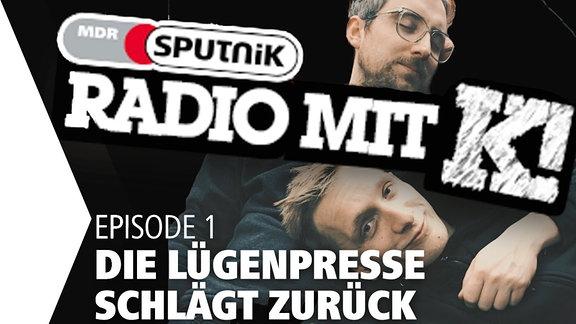 """Steffen und Felix von Kraftklub moderieren """"Radio mit K""""."""
