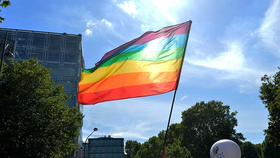 Gay Pride Feier in Paris.