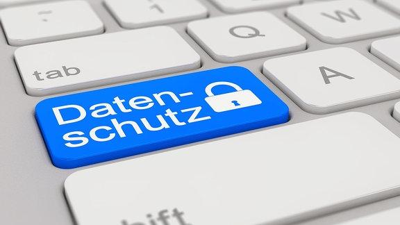 """Computertastatur mit beschrifteter Taste: """"Datenschutz"""""""